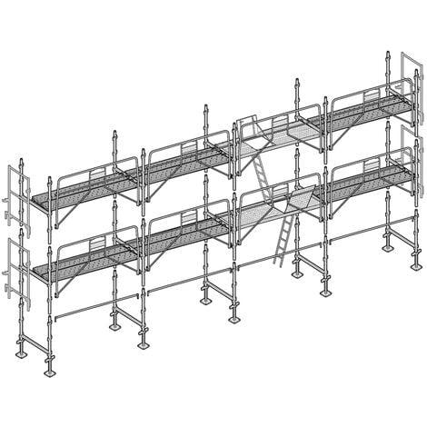 Echafaudage façadier 78 m² garde-corps sécurité planchers AGSP78