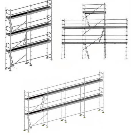 Echafaudage fixe 3 en 1: Structure seule