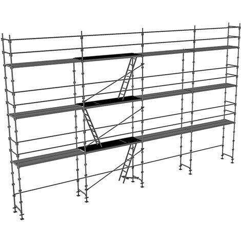 Echafaudage fixe de 104m² : Structure + Planchers