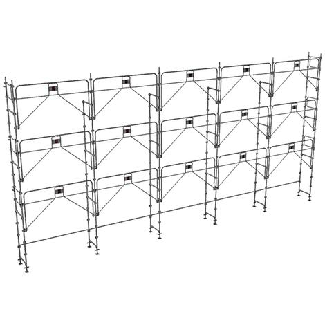 Echafaudage fixe de 128m² : Structure seule