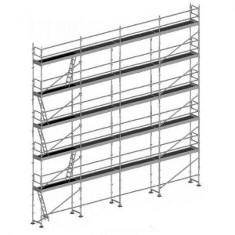 Echafaudage fixe de 156m² - Structure + Planchers + Plinthes - Version lisses; sous-lisses et diagonales