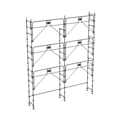 Echafaudage fixe de 56m² : Structure seule