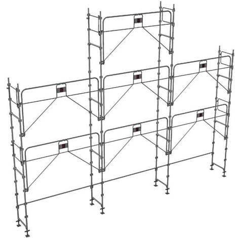 Echafaudage fixe de 68m² : Structure seule