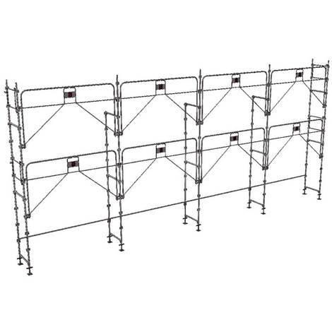 Echafaudage fixe de 78m² : Structure seule