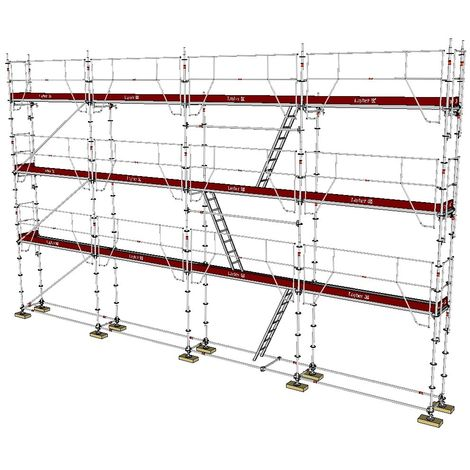ECHAFAUDAGE FIXE LAYHER UNIVERSEL GARDES-CORPS MDS - 104m² / 0,73m