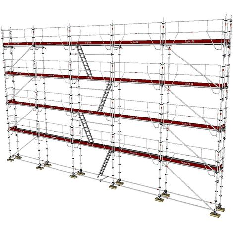 ECHAFAUDAGE FIXE LAYHER UNIVERSEL GARDES-CORPS MDS - 160m² / 0,73m