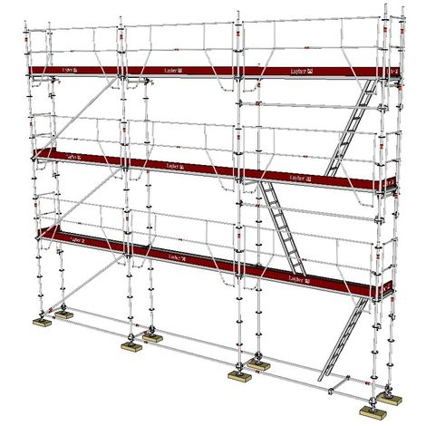 ECHAFAUDAGE FIXE LAYHER UNIVERSEL GARDES-CORPS MDS - 80m² / 0,73m
