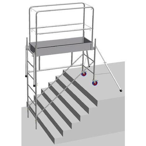 Echafaudage pour escalier : 3.8m haut. travail max (plusieurs tailles disponibles)