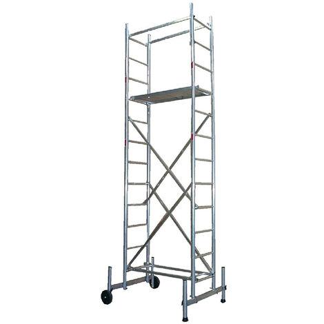 Echafaudage pour escalier : 7m haut. travail max (plusieurs tailles disponibles)