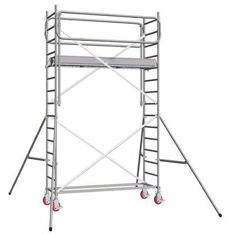 Echafaudage roulant alu - embase simple - longueur 2.66m (plusieurs tailles disponibles)