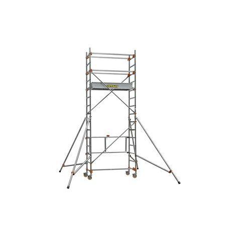 Échafaudage roulant aluminium base pliante 1.8 m STM 165 2 BP