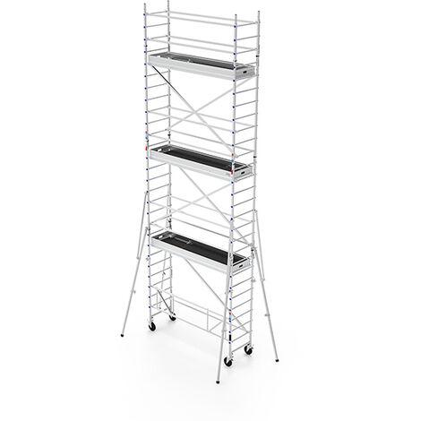 Echafaudage roulant aluminium - longueur 2.40m (plusieurs tailles disponibles)