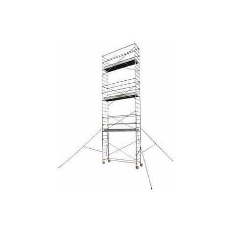 Echafaudage roulant aluminium - Longueur 2m55 - STL 255 8, plancher 7m90