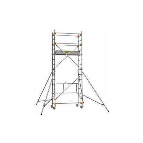 Echafaudage roulant aluminium STM 165 4 - plancher 3m80 - Base standard - Longueur 1m65