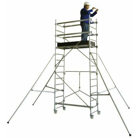 Echafaudage roulant T-ONE 155 PLIANT 0m70 plancher (2m70 travail)