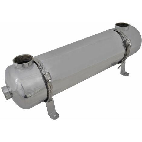 Échangeur de chaleur pour piscine 613 x 134 mm 75 kW Chauffage piscine
