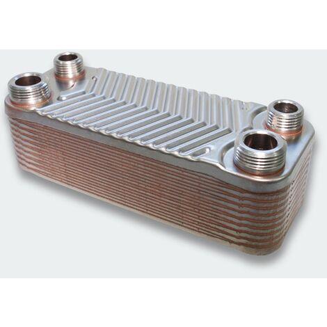 Échangeur de chaleur thermique inox 20 plaques max. 44 kW
