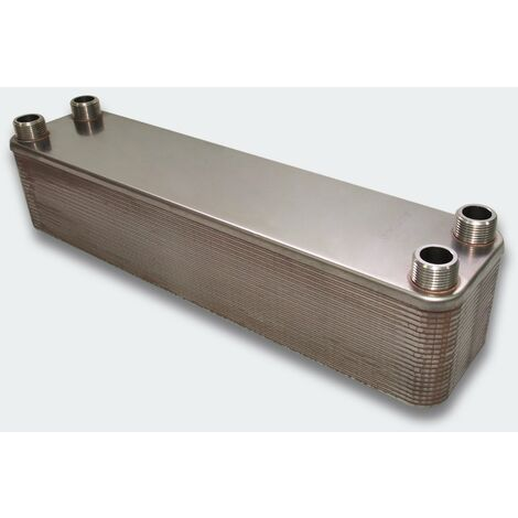Échangeur de chaleur thermique inox 40 plaques max. 440 kW