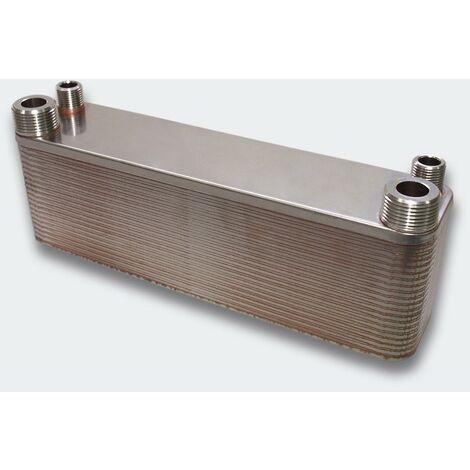 Échangeur de chaleur thermique inox 50 plaques max. 210 kW