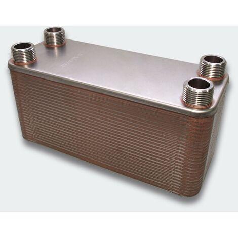 Échangeur de chaleur thermique inox 50 plaques max. 285 kW