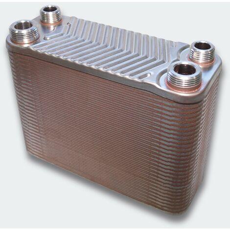 Échangeur de chaleur thermique inox 60 plaques max. 130 kW