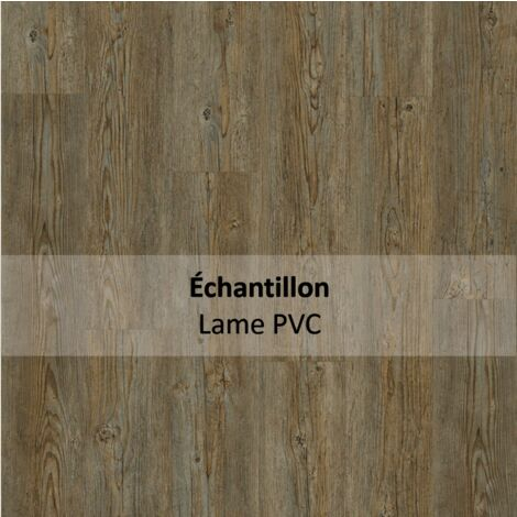 Echantillon Sol PVC clipsable - Essentiel Click 30 - imitation parquet Brushed Pine gris - Tarkett