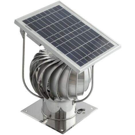 Échappement en acier inoxydable de la cheminée hybride aider capot avec panneau solaire 150mm version standard