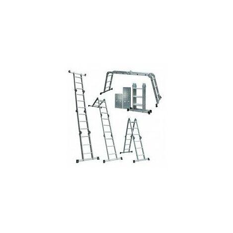 echelle articulee sans plateau désignation echelle 5 positions longueur repliée 100 mlongueur totale dépliée 371 cmpoids 12,8kg