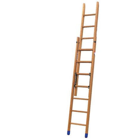 Echelle bois coulissante à main 2 plans (plusieurs tailles disponibles)