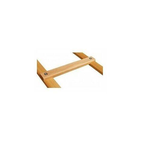 Echelle bois de toit 10x25 2 50m10 echelons pas 25cm