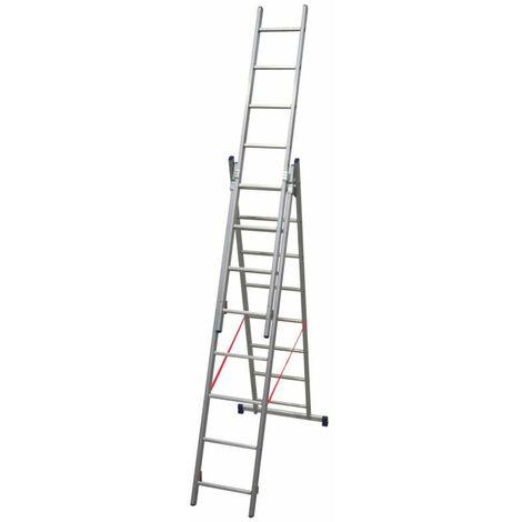 Échelle Brico transformable 3 plans adaptable aux escaliers