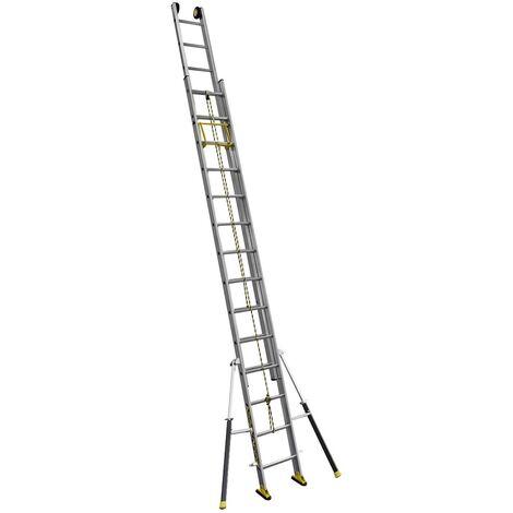 Echelle coulissante 2 plans à corde C2 STAB' 4m05/6m60