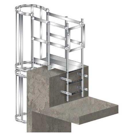 Echelle crinoline avec palier de sortie haut et échelle de redescente (plusieurs tailles disponibles)