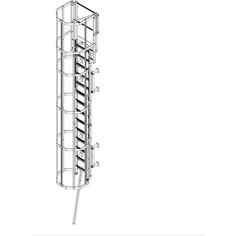 Echelle crinoline escamotable de 5.00m à 8.00m (plusieurs tailles disponibles)