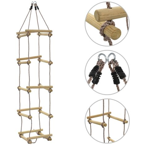 Échelle de corde pour enfants 200 cm Bois