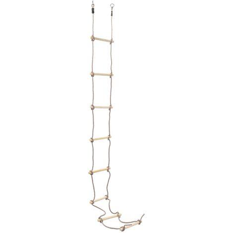 Échelle de corde pour enfants 290 cm Bois