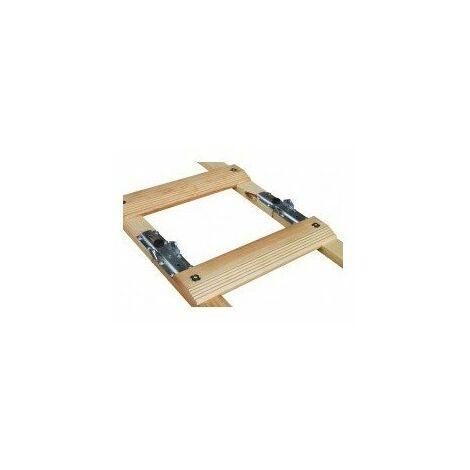 Echelle de couvreur pliante renforcee confort - longueur:4 m (2 x 2 m)entraxe marches:33 cmnb échelons:12 poids:8 kg