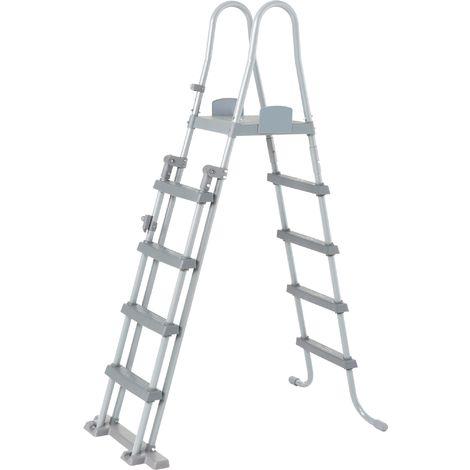 Echelle de piscine sécurité Bestway acier tubulaire anticorrosion 84/107/122 cm