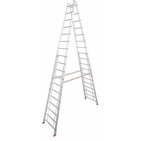 Echelle double H de travail 6,70 H reelle 5,03 Longueur 5,20 marches 2x18