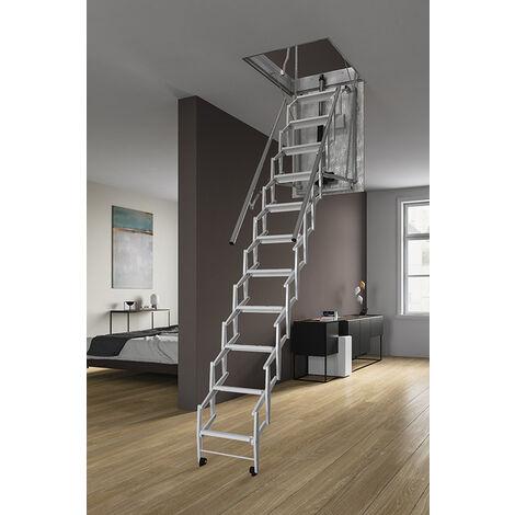 Echelle escamotable électrique - Hauteur maximale sous plafond 3.00m (plusieurs tailles disponibles)