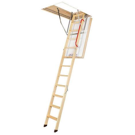 Echelle escamotable isolation renforcée - Haut. sous plafond 3.05m et long. trémie 1.30 à 1.40m (plusieurs tailles disponibles)
