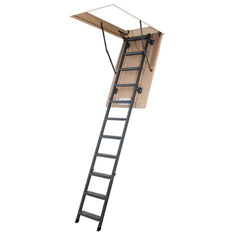 Echelle escamotable métallique - Hauteur maximale sous plafond 3.05m (plusieurs tailles disponibles)