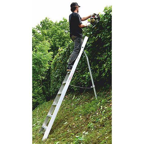 Echelle fruitière avec pied télescopique : travail dans les branches (plusieurs tailles disponibles)