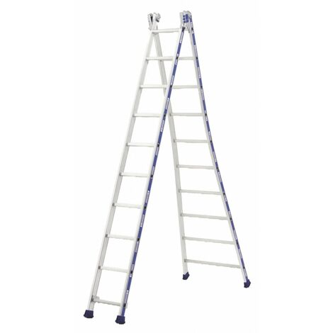 Echelle platinium transformable 2 plans 4m88 2x10 - TUBESCA