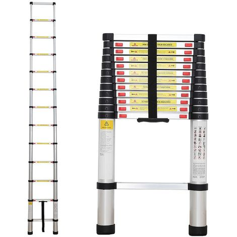 Échelle Pliable, Echelle Telescopique, 3,8 mètre(s), EN 131, Charge maximale: 150 kg