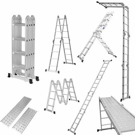 Échelle Pliante Télescopique Aluminium Multifonction Extensible et Polyvalente