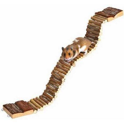 Échelle Pont pour hamster perroquet oiseaux jouet en bois 7 cm x 55 cm