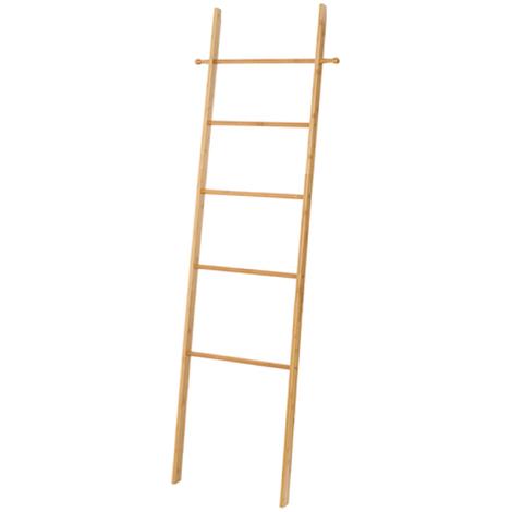 Echelle Porte Serviettes En Bambou Dim 43 X 170 X 33 Cm Pegane