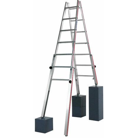 A. Echelle pour escaliers pour une hauteur atteignable de 2.77m.