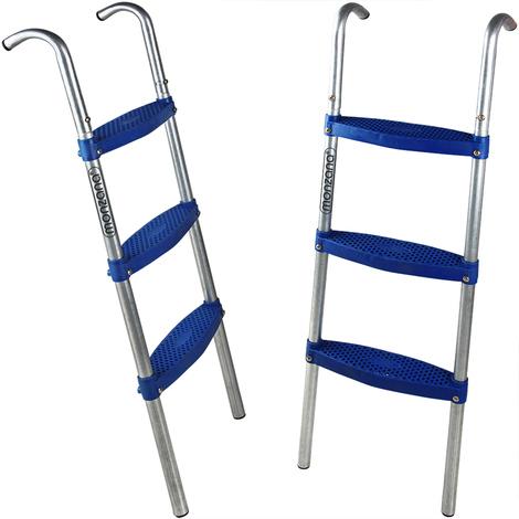 Échelle pour trampoline - 76 cm / 2 marches en métal - Marche Accessoire